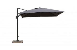 Parasol de jardin carré déporté et inclinable 3m DELORM