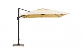 Parasol de jardin carré déporté et inclinable 2m50 DELORM