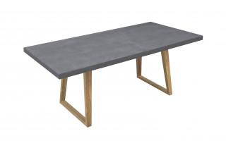 Table salle à manger grise 6 personnes DELORM