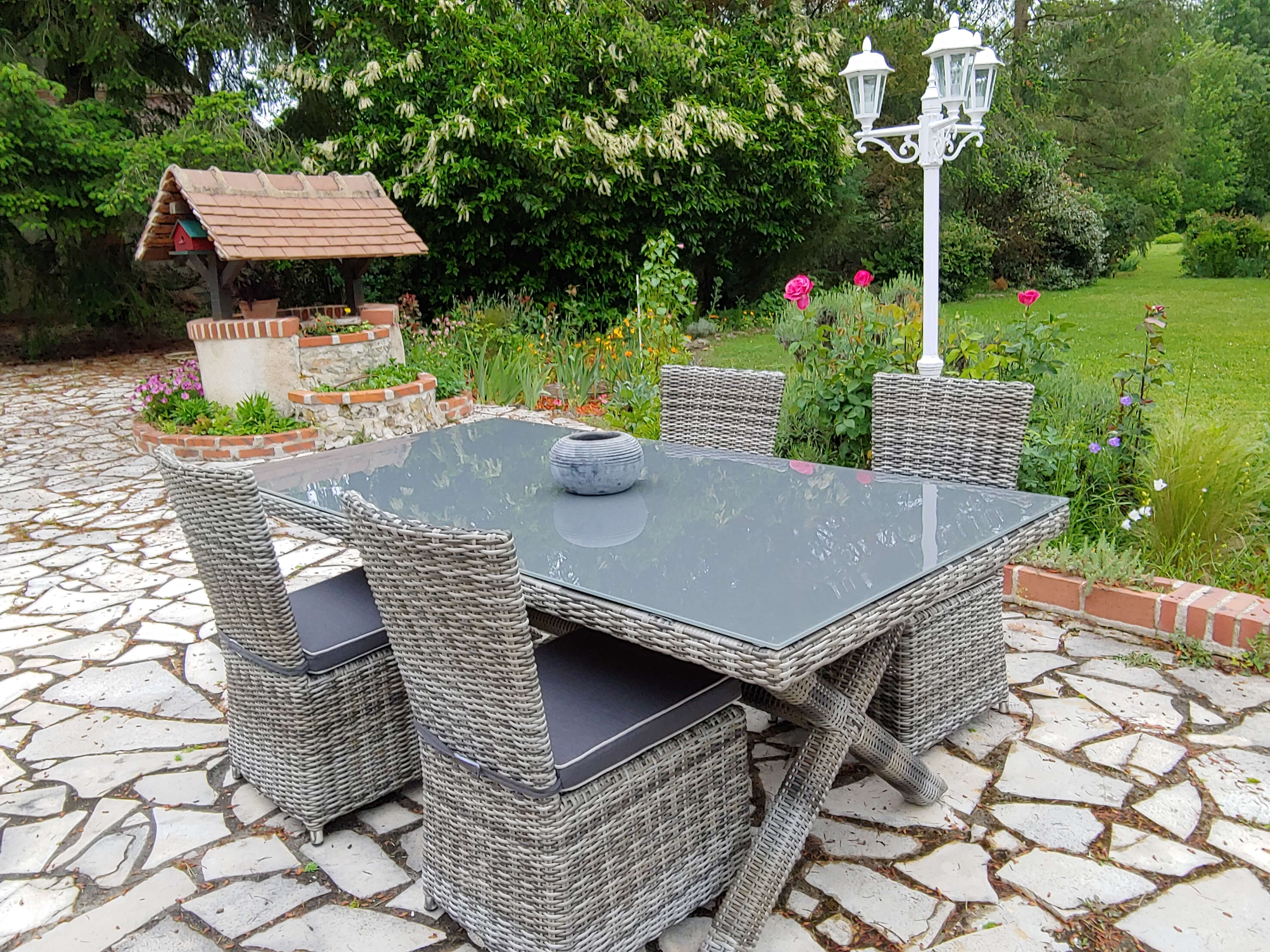 Photo client Ensemble table et chaises Bali